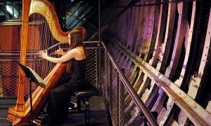 Cutty Sark theatre harpist Glenda Allaway