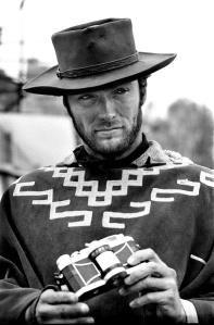 Clint-Eastwood-photographed-on-the-set-of-For-a-Few-Dollars-More-by-Tazio-Secchiaroli- 1965