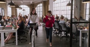 Jules gets exercise at the office!